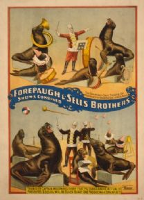 Vintage Circus Poster Forepaugh and Sells Brothers 1899